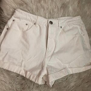 White forever 21 high waisted shorts